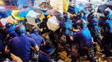 旺角首波清场19小时 警抓捕近百人