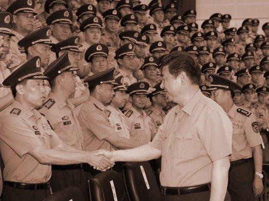 """习近平带""""超级保镖"""" 视察16军谈徐才厚案"""