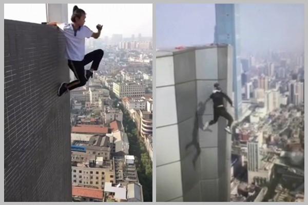 中国高空挑战第一人坠亡 挣扎20秒视频曝光(视频)
