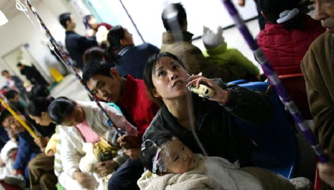 乙型流感大爆发 患者挤爆医院 陆媒惊呼堪比SARS
