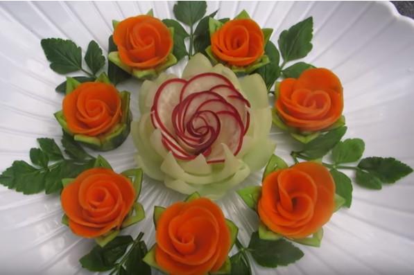 太漂亮了 这些真的是用蔬菜做出来的吗(视频)
