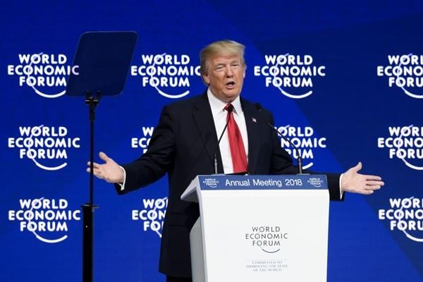 川普达沃斯讲话后 全球股市上扬 美股创新高