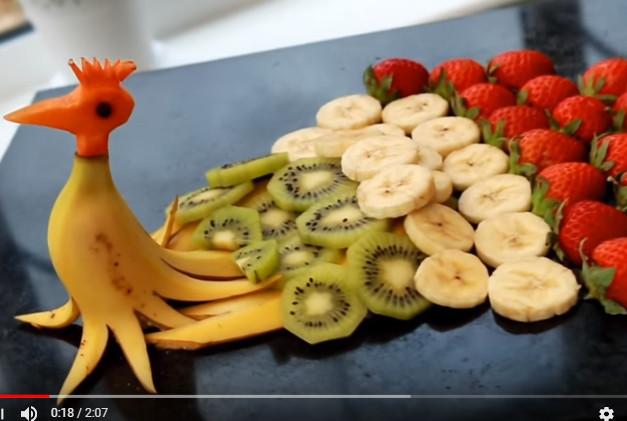 美丽的孔雀水果 适合聚餐派对(视频)
