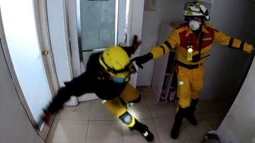 云门翠堤严重倾斜 搜救人员忍着平衡感失调抢救(视频)