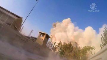 美英法发动空袭  摧毁叙利亚化武设施