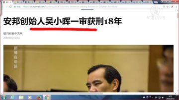 【石涛评述】安邦创始人吴小晖一审获刑18年