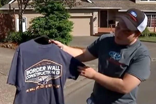 穿川普建墙T恤上学遭停学 美高中生告学校侵言论自由