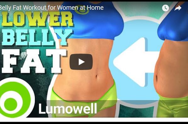 女性降低腹部脂肪锻炼 10分钟有效平腹 在家就可以做(视频)