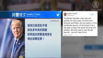 川普发推文视频 重申解决非法移民问题