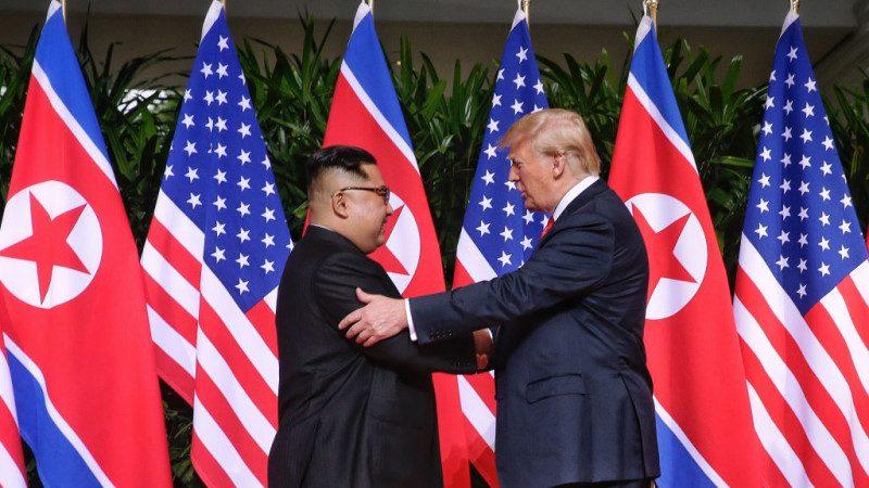 """示好美国 朝鲜川金会后撤除""""反美""""文宣"""