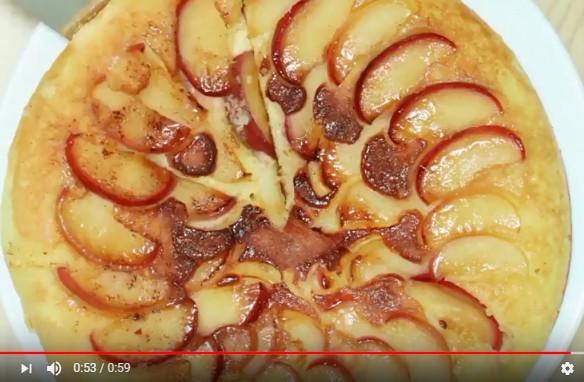 苹果松饼 健康美食 一家大小都爱吃(视频)