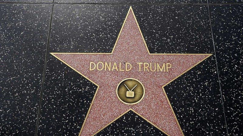 """假新闻!党媒称""""川普之星""""将被好莱坞星光大道移除"""