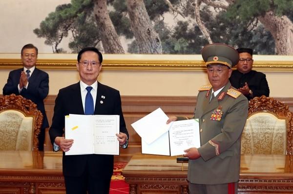 韩朝签军事协议 美学者:警惕金正恩意图