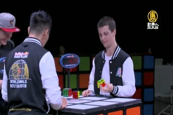 谁是最快手?魔术方块冠军不到5秒就解开