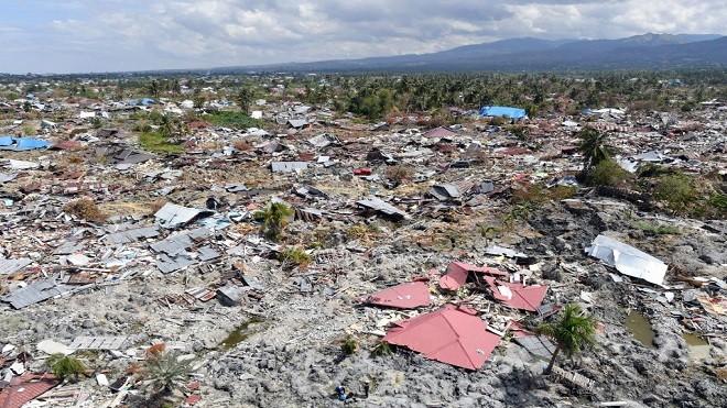 印尼灾后已致1763死 帕卢2区几乎从卫星图消失