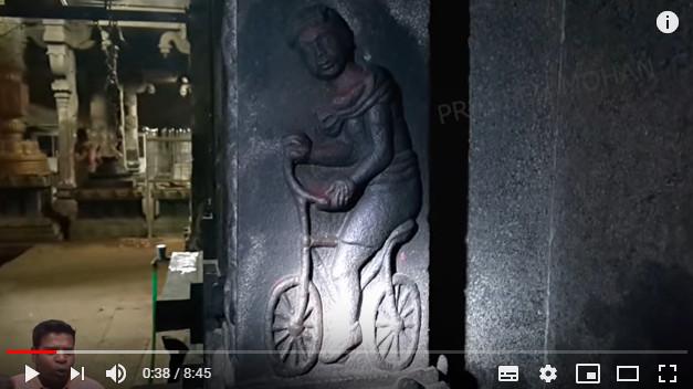 """印度千年寺庙发现""""古人骑自行车""""(视频)"""