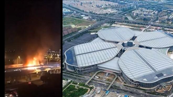 习近平来访前夕 进博会上海会场附近惊传大爆炸