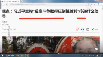 """【石涛评述】习近平宣称""""反腐斗争取得压倒性胜利""""传递什么信号(下)"""