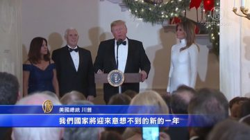川普总统和第一夫人主办圣诞国会舞会