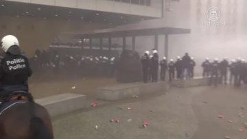 """签UN移民公约""""捅漏子"""" 比利时爆发抗议"""