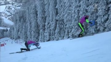 踩滑雪板爬山!雪地升降赛选手需闯四关