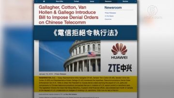 美国会议员推新法 再次锁定中兴华为