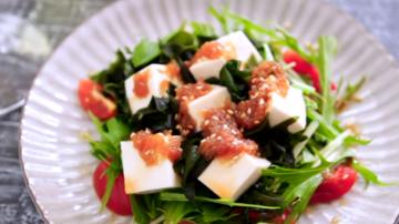 豆腐海苔芽和风沙拉 健康美味(视频)