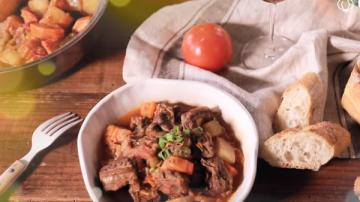 番茄炖牛肉 无水原味料理(视频)