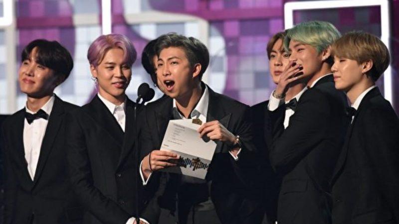 BTS梦想成真担任葛莱美奖颁奖人 K-POP首例
