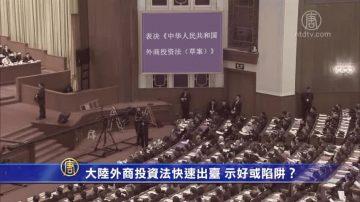 【禁闻】大陆外商投资法快速出台 示好或陷阱?