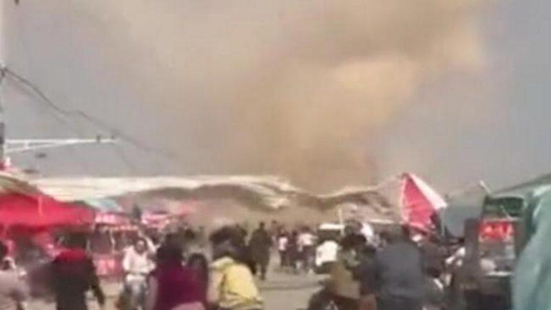 天灾人祸 龙卷风突袭河南 多童被卷上天 2死20伤